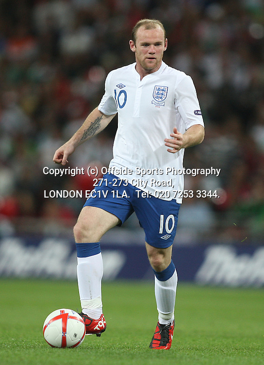 03/09/2010 International football. England v Bulgaria.<br /> Wayne Rooney.<br /> Photo: Mark Leech.