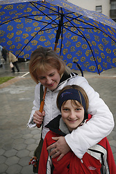 Mother with a happy child.  (Photo by: Vid Ponikvar / Sportal Images).
