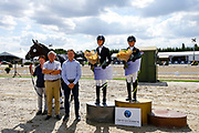 Prijsuitreiking Young Horses<br /> Flanders Dressage Event 2018<br /> © DigiShots