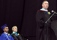 Superintendent Gene Lolli speaks during the 119th annual Springboro High School commencement at the Nutter Center in Fairborn, Saturday, June 2, 2012.