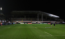 General view of the new stand at Welford Road - Mandatory byline: Jack Phillips / JMP - 07966386802 - 13/11/15 - RUGBY - Welford Road, Leicester, Leicestershire - Leicester Tigers v Stade Francais - European Rugby Champions Cup Pool 4