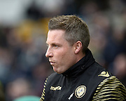 Millwall manager Neil Harris during the Sky Bet League 1 match between Millwall and Blackpool at The Den, London, England on 5 March 2016. Photo by David Charbit.