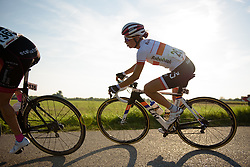 Kasia Niewiadoma (Rabo Liv) catches the lone leader, van Dongen at the 103 km Stage 1 of the Boels Ladies Tour 2016 on 30th August 2016 in Tiel, Netherlands. (Photo by Sean Robinson/Velofocus).