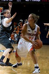 Virginia Cavaliers G Tara McKnight (21)..The Virginia Cavaliers women's basketball team faced Team Concept in an exhibition basketball game at the John Paul Jones Arena in Charlottesville, VA on November 5, 2007.