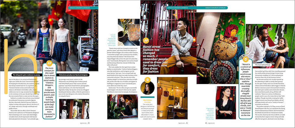 Street style feature story shot in Hanoi, Vietnam.