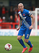 Leyton Orient defender Sean Clohessy looks for an opening during the Sky Bet League 2 match between Crawley Town and Leyton Orient at the Checkatrade.com Stadium, Crawley, England on 10 October 2015. Photo by Bennett Dean.
