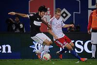 FUSSBALL   1. BUNDESLIGA    SAISON 2012/2013    8. Spieltag   Hamburger SV - VfB Stuttgart            21.10.2012 Serdar Tasci (li, VfB Stuttgart) gegen Artjoms Rudnevs (re, Hamburger SV)