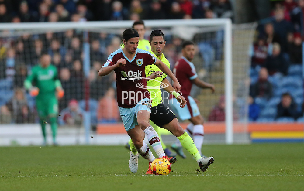 Burnley midfielder George Boyd (21) during the Sky Bet Championship match between Burnley and Brighton and Hove Albion at Turf Moor, Burnley, England on 22 November 2015.
