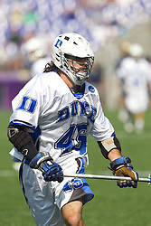 31 May 2010: Duke Blue Devils midfielder Jonathan Livadas (45) in a 5-6 win over the Notre Dame Fighting Irish for the NCAA Lacrosse Championship at M&T Bank Stadium in Baltimore, MD.
