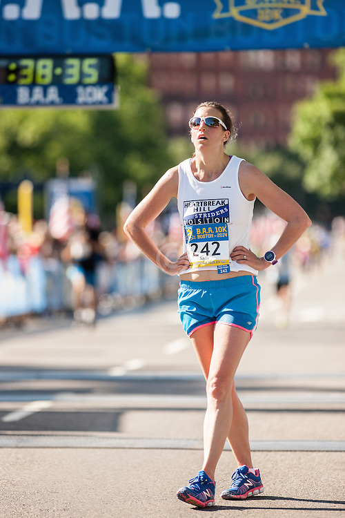 Boston Athletic Association 10K road race: Sally Dupere