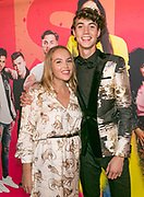 AMSTERDAM, THE NETHERLANDS. 2017, SEPTEMBER 22. Niek Roozen and Lisa Schreuder at the premiere of Misift at Pathe ArenA.