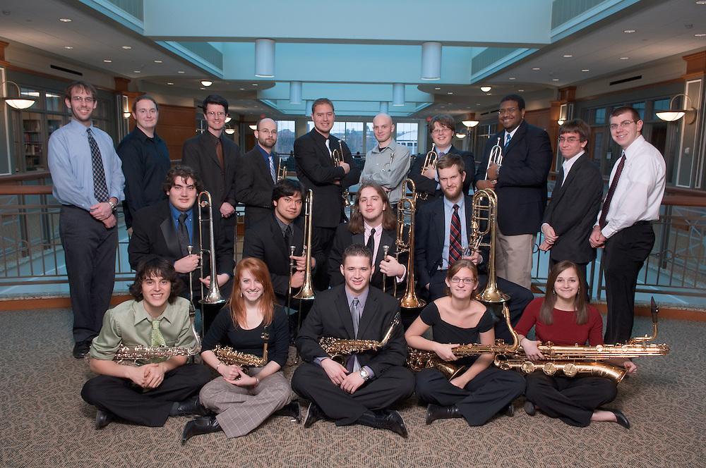 18071Jazz Band Ensemble w/Matt James Group Portrait 2/20/07