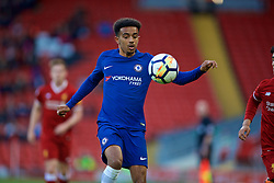 LIVERPOOL, ENGLAND - Tuesday, May 8, 2018: Chelsea's Jacob Maddox during the Under-23 FA Premier League 2 Division 1 match between Liverpool FC and Chelsea FC at Anfield. (Pic by David Rawcliffe/Propaganda)