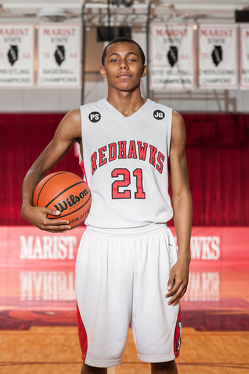 Marist High School 2015 Basketball Sports Photography. Chicago, IL. Chris W. Pestel Chicago Sports Photographer.