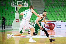 Tim Osolnik of Krka during basketball match between KK Petrol Olimpija and KK Krka in Round #6 of Liga Nova KBM za prvaka 2018/19, on April 5, 2019, in Arena Stozice, Ljubljana, Slovenia. Photo by Vid Ponikvar / Sportida