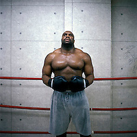 Photo ©2007 Tom Wagner,  ©Tom Wagner 2007, all moral rights asserted..Bob Sapp, Team Beast, star of K-1 martial arts fighting sport. K-1 fuses karate, kung-fu, tae kwon do and kick-boxing in a new sport to determine the best stand-up fighter in the world. Sapp, an ex-American footballer, moved to Japan to train and fight, and became a media sensation...No usage allowed without written agreement with Tom Wagner, copyright holder and creator..No usage allowed without written agreement with Tom Wagner, copyright holder and creator.
