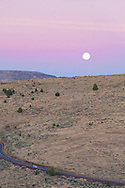 The Moonrise over the hills in Deschutes County, Oregon