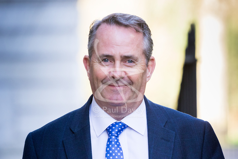Downing Street, London, March 21st 2017. International Trade Secretary Liam Fox attends the weekly cabinet meeting at 10 Downing Street.