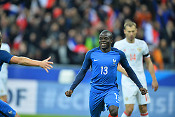 29.03.2016, Stade de France, St. Denis, FRA, Testspiel, Frankreich vs Russland, im Bild kante n'golo // during the International Friendly Football Match between France and Russia at the Stade de France in St. Denis, France on 2016/03/29. EXPA Pictures © 2016, PhotoCredit: EXPA/ Pressesports/ LAHALLE PIERRE<br /> <br /> *****ATTENTION - for AUT, SLO, CRO, SRB, BIH, MAZ, POL only*****