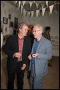 TONY ELLIOT; JAMES LINGWOOD, Matt's Gallery 35th birthday fundraising supper.  42-44 Copperfield Road, London E3 4RR. 12 June 2014.