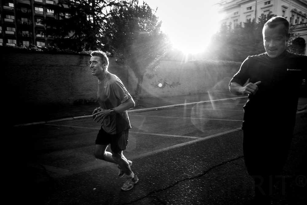 Doing sports is a high priority for Anders Fogh Rasmussen, Secretary General for NATO. It keeps him fit to lead the worlds biggest military organization. Here in Rome, Italy, at seven of clock in the morning after running 4,5 kilometer before a long row of meetings with the italian President, Prime Minister and Minister for Defence as preparation for the upcoming NATO Summit in Chicago.