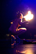 Strippers club erotic fire swallower