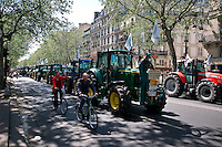 French farmers from all over the country drove their tractors all the way to Paris, to protest the rising production and administrative fees.