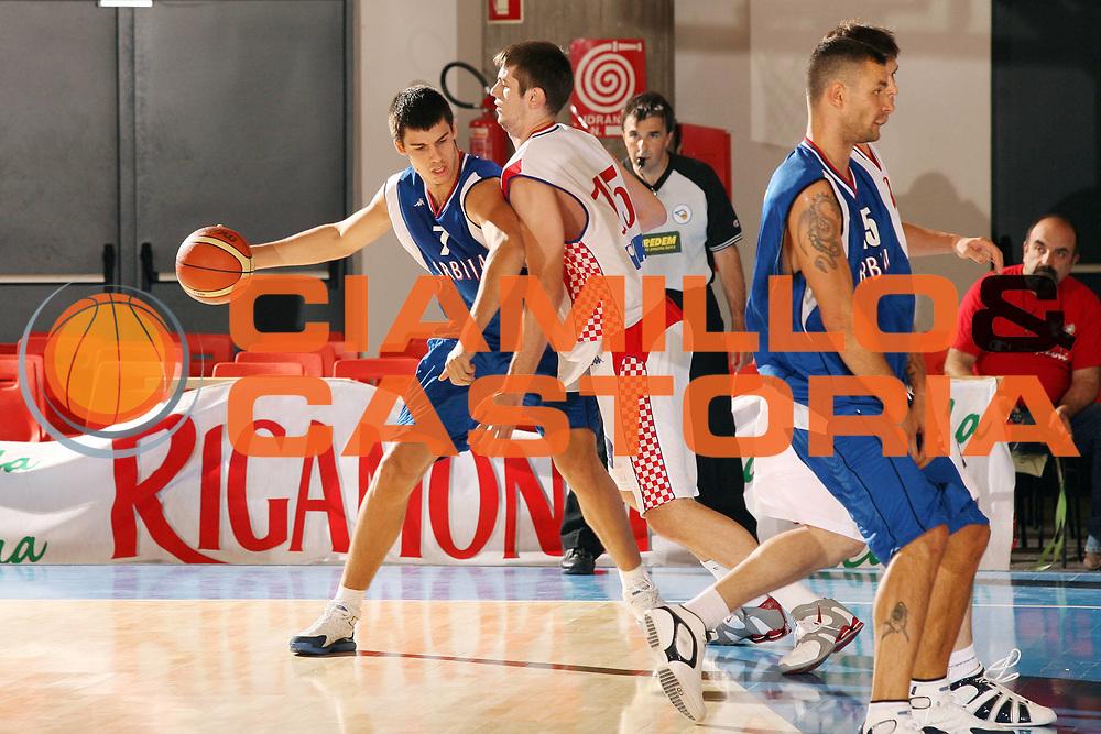 DESCRIZIONE : Bormio Torneo Internazionale Gianatti Croazia Serbia <br /> GIOCATORE : Zoran Erceg<br /> SQUADRA : Serbia <br /> EVENTO : Bormio Torneo Internazionale Gianatti <br /> GARA : Croazia Serbia <br /> DATA : 03/08/2007 <br /> CATEGORIA : Palleggio<br /> SPORT : Pallacanestro <br /> AUTORE : Agenzia Ciamillo-Castoria/G.Cottini