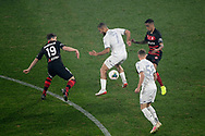 SYDNEY, AUSTRALIA - JULY 20: Leeds United midfielder Kemar Roofe (7) controls the ball during the club friendly football match between Leeds United and Western Sydney Wanderers FC on July 20, 2019 at Bankwest Stadium in Sydney, Australia. (Photo by Speed Media/Icon Sportswire)