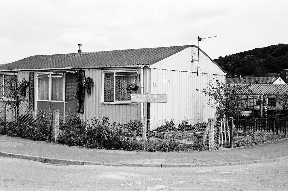The Bishpool and Treberth post-war prefabs estates in 2002