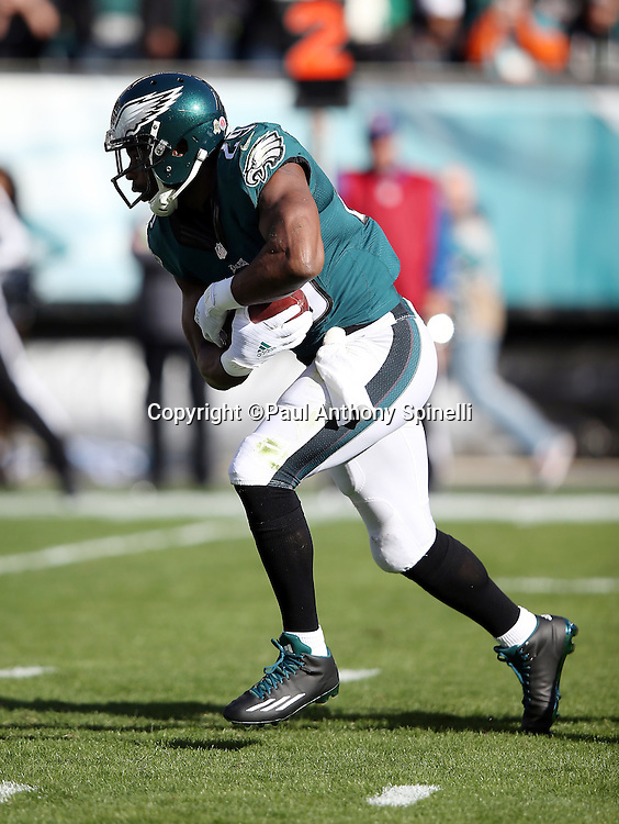 Philadelphia Eagles running back DeMarco Murray (29) runs the ball inside the red zone in the first quarter during the 2015 week 10 regular season NFL football game against the Miami Dolphins on Sunday, Nov. 15, 2015 in Philadelphia. The Dolphins won the game 20-19. (©Paul Anthony Spinelli)