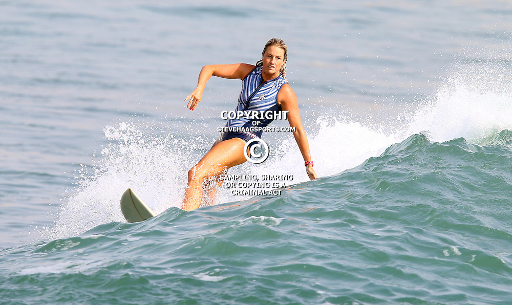 Janine Downing Van Rooyen Surfing North Beach Durban KZN,South Africa. January 20th 2016 (Photo by Steve Haag)<br />