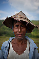 A farmer near the city of Dawei, Burma.<br />