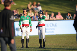 Kraut Laura, (USA), Modolo Zanotelli Marlon, (BRA), Team Rome Gladiators<br /> Global Champions League of Hamburg - GCL Team Competition<br /> Hamburg - Hamburger Derby 2016<br /> © Hippo Foto - Stefan Lafrentz