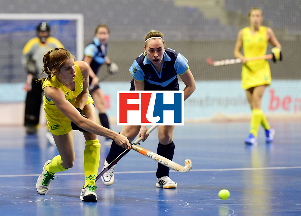 BERLIN - Indoor Hockey World Cup<br /> Women: Ukraine - Australia<br /> foto: <br /> WORLDSPORTPICS COPYRIGHT FRANK UIJLENBROEK