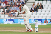 Alastair Cook of England is out caught behind during the 3rd International Test Match 2018 match between England and India at Trent Bridge, West Bridgford, United Kingdon on 21 August 2018.