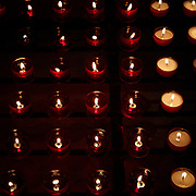 Offertory candles in the Church of the Holy Blood