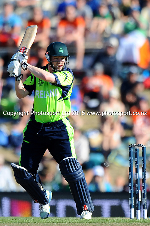 Niall O'Brien during the 2015 ICC Cricket World Cup match between West Indies and Ireland. Saxton Oval, Nelson, New Zealand. Monday 16 February 2015. Copyright Photo: Chris Symes / www.photosport.co.nz
