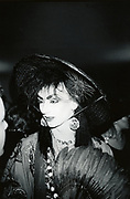 Boy George of Culture Club, dressed up, Le Beat Route, Soho, London, UK 1980's