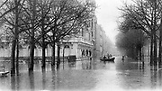 France c 1900 Flooded streets of Paris
