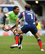 LONDON, ENGLAND - Saturday 10 May 2014, Justin Geduld of South Africa during the match between South Africa and France at the Marriott London Sevens rugby tournament being held at Twickenham Rugby Stadium in London as part of the HSBC Sevens World Series.<br /> Photo by Roger Sedres/ImageSA
