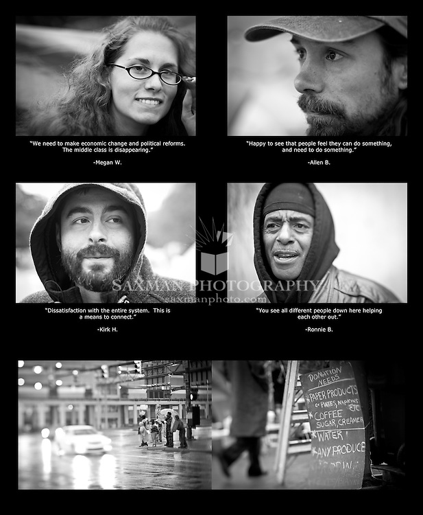 Portraits of the participants of Occupy Richmond, October 2011