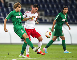 22.08.2013, Red Bull Arena, Salzburg, AUT, UEFA EL Play Off, FC Red Bull Salzburg vs VMFD Zalgiris, Hinspiel, im Bild Arturas Zulpa, (VMFD Zalgiris Vilnius, #80) und Jonatan Soriano, (FC Red Bull Salzburg, #26) // during UEFA Europa League Qualification 1st Leg Match between FC Red Bull Salzburg and VMFD Zalgiris at the Red Bull Arena, Salzburg, Austria on 2013/08/22. EXPA Pictures © 2013, PhotoCredit: EXPA/ Roland Hackl