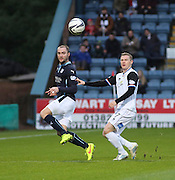 Dundee's James McPake and Inverness' Billy Mckay - Dundee v Inverness Caledonian Thistle, SPFL Premiership at Dens Park <br /> <br />  - &copy; David Young - www.davidyoungphoto.co.uk - email: davidyoungphoto@gmail.com