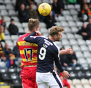 Partick Thistle&rsquo;s Liam Lindsay and Dundee's Rory Loy - Partick Thistle v Dundee, Ladbrokes Premiership at Firhill<br /> <br />  - &copy; David Young - www.davidyoungphoto.co.uk - email: davidyoungphoto@gmail.com