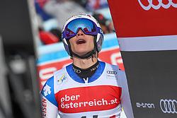 26.10.2019, Hannes Trinkl Weltcupstrecke, Hinterstoder, AUT, FIS Weltcup Ski Alpin, Riesenslalom, Herren, 2. Lauf, im Bild Marco Odermatt (SUI) // Marco Odermatt of Switzerland reacts after his 2nd run of men's Giant Slalom of FIS ski alpine world cup at the Hannes Trinkl Weltcupstrecke in Hinterstoder, Austria on 2019/10/26. EXPA Pictures © 2020, PhotoCredit: EXPA/ Erich Spiess