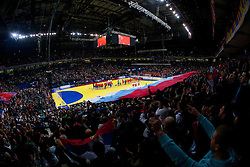 Arena during final handball match between Serbia and Denmark at 10th EHF European Handball Championship Serbia 2012, on January 29, 2012 in Beogradska Arena, Belgrade, Serbia.  (Photo By Vid Ponikvar / Sportida.com)
