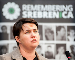 MSP Ruth Davidson spoke at an event remembering the massacre at Srebrenica during the Yugoslav war. <br /> <br /> © Dave Johnston/ EEm