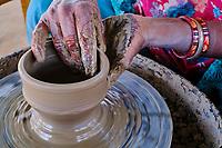 Inde, Gujarat, Kutch, village des potiers de Khavda // India, Gujarat, Kutch, potter village of Khavda