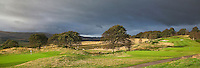 GLENEAGLES SCHOTLAND - Hole 3 en 4 van PGA Centenary Course  van Gleneagles.  Er zijn drie bannen van Gleneagles. De Queen's Corse, King's  Corse en de belangrijkste is de PGA Centenary Course. Op de PGA course wordt in 2014 de Ryder Cup gespeeld. Het Gleneagles Hotel heeft 5 sterren en het restaurant van Andrew Fairlie met 2 Michelin sterren. FOTO KOEN SUYK